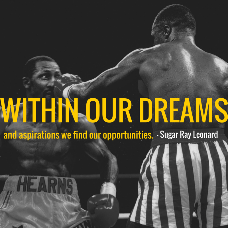 Sugar Ray Leonard - Quote