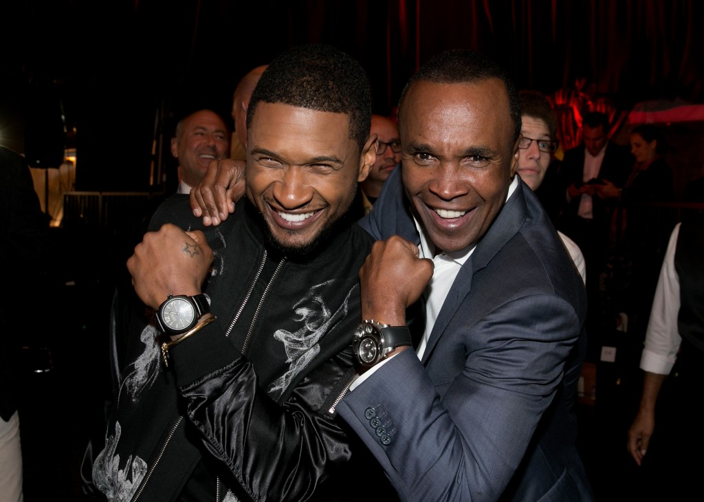 Photo of Sugar Ray Leonard & his friend